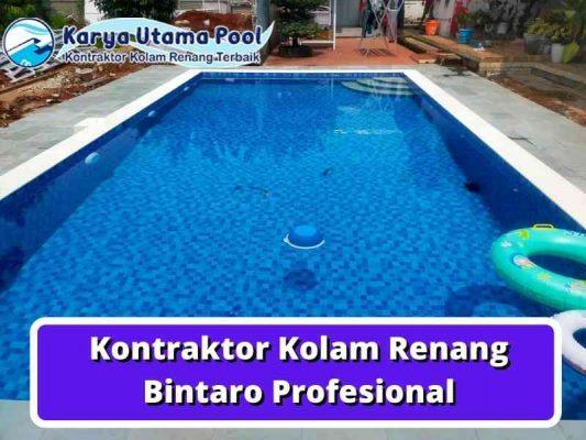Kontraktor Kolam Renang Bintaro Profesional